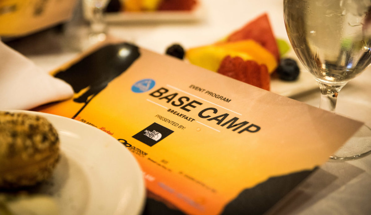 Event Program at Base Camp Breakfast in 2017