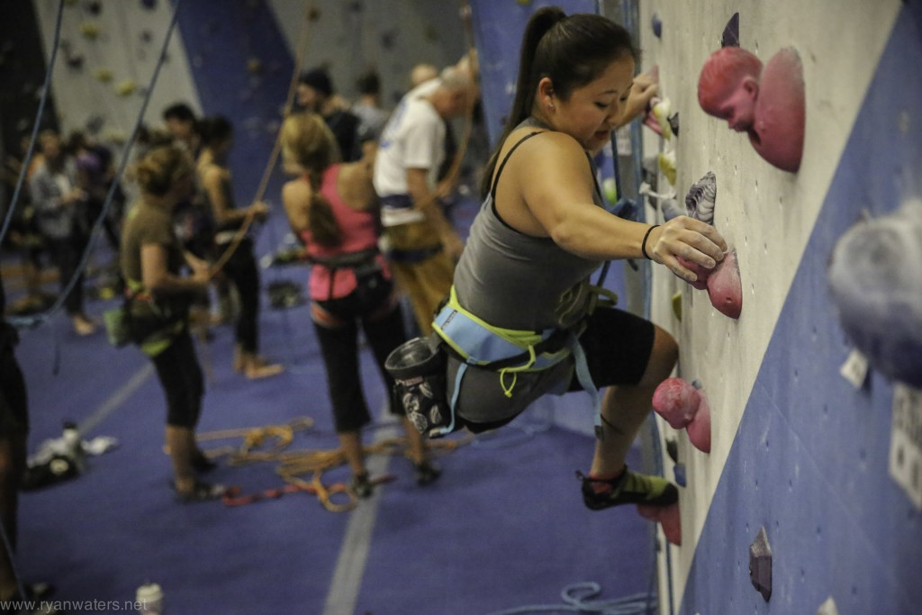 Jessica Sporte at Adaptive Climbing Club Night