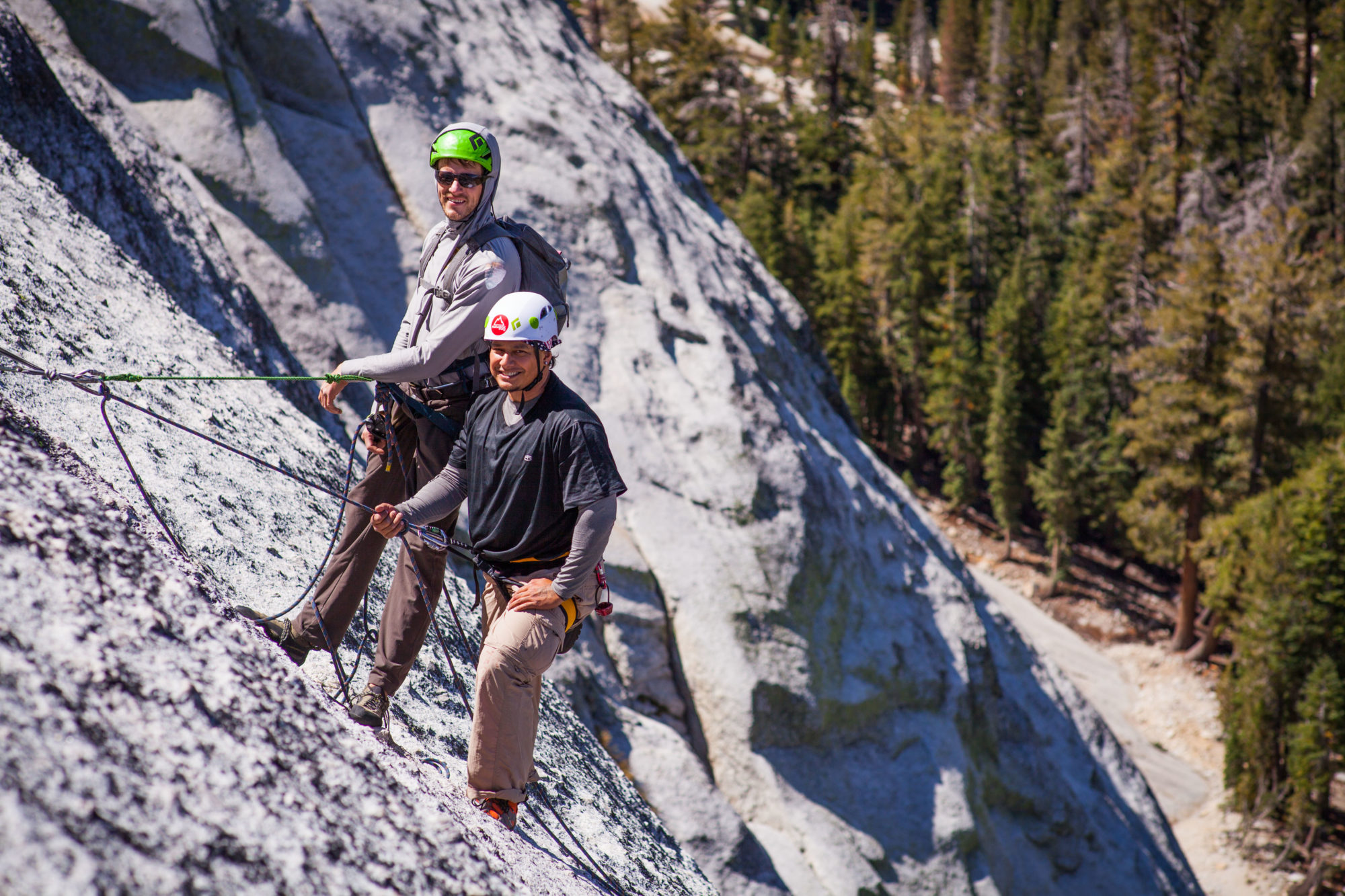 Climbers on the wall on Yosemite Trip in 2017