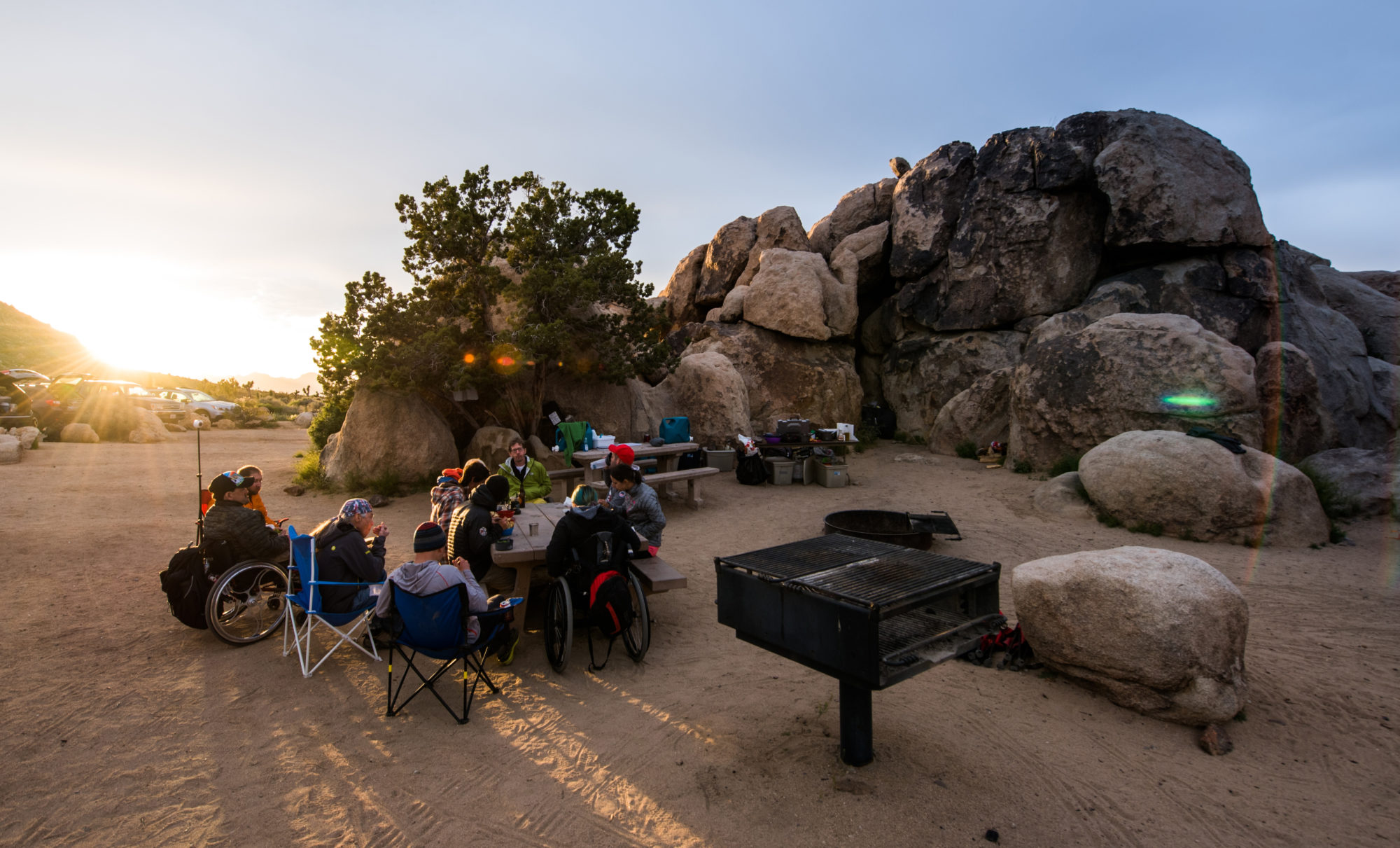 Joshua Tree Group Photo at Campground