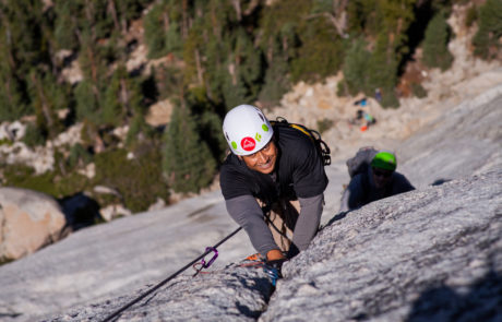 Climber on wall on Yosemite Trip in 2017