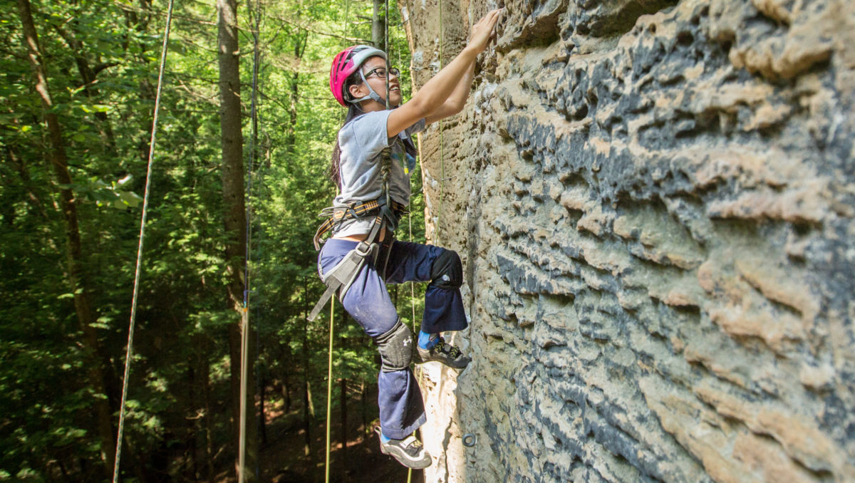 Climber Climbing on Red River Gorge Trip