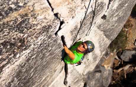 Climber Crack Climbing on Yosemite Trip in 2016