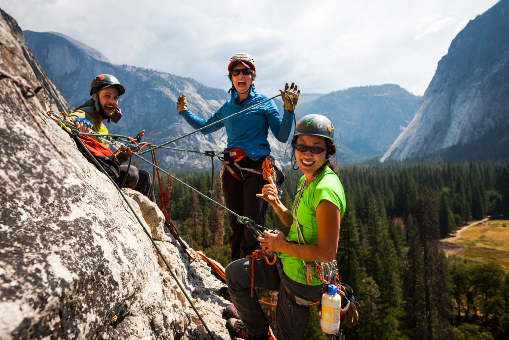 Climbers on the wall on Yosemite Trip in 2016