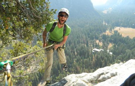 Climber Summiting on Yosemite Trip