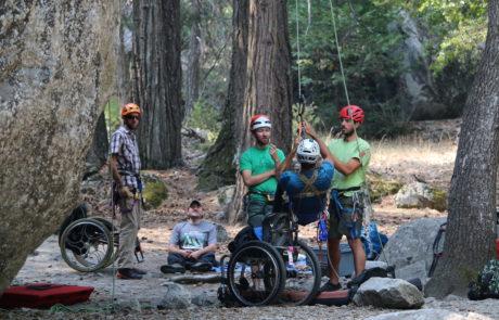 Volunteers Helping Climbers