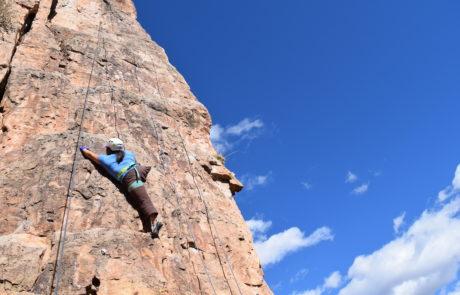 Jess Sporte Climbing on Shelf Road Trip