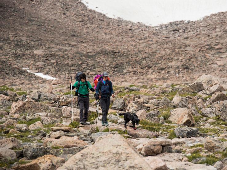 Participants Hiking on RMNP Trip