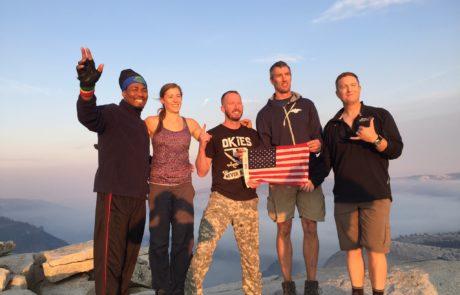 Climbers Summiting